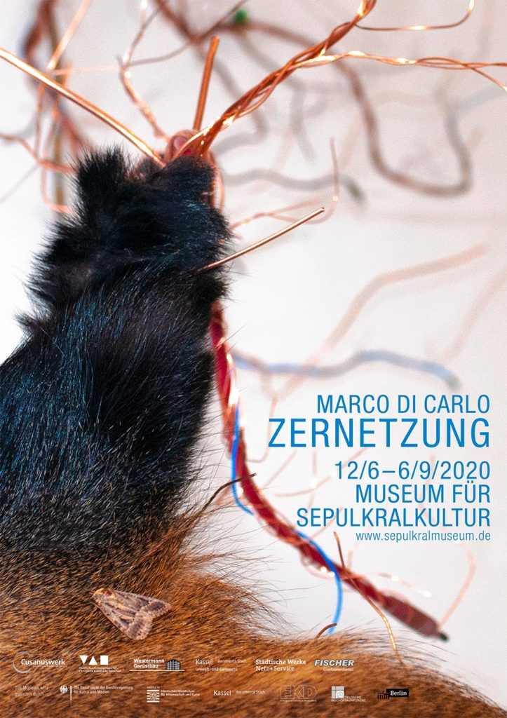 Marco Di Carlo - Ausstellung Zernetzung - Museum für Sepulkralkultur - Sepulkralmuseum Kassel - Plakat - Flyer