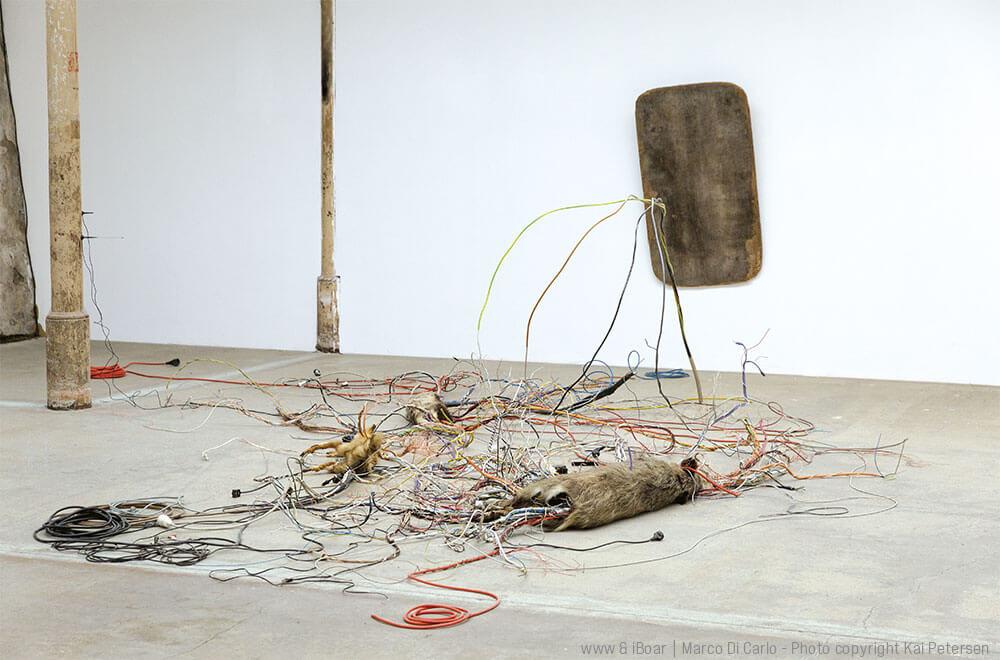 Marco Di Carlo - Installation World Wide Wood - Sculpture iBoar -- Photo copyright - Kai Petersen