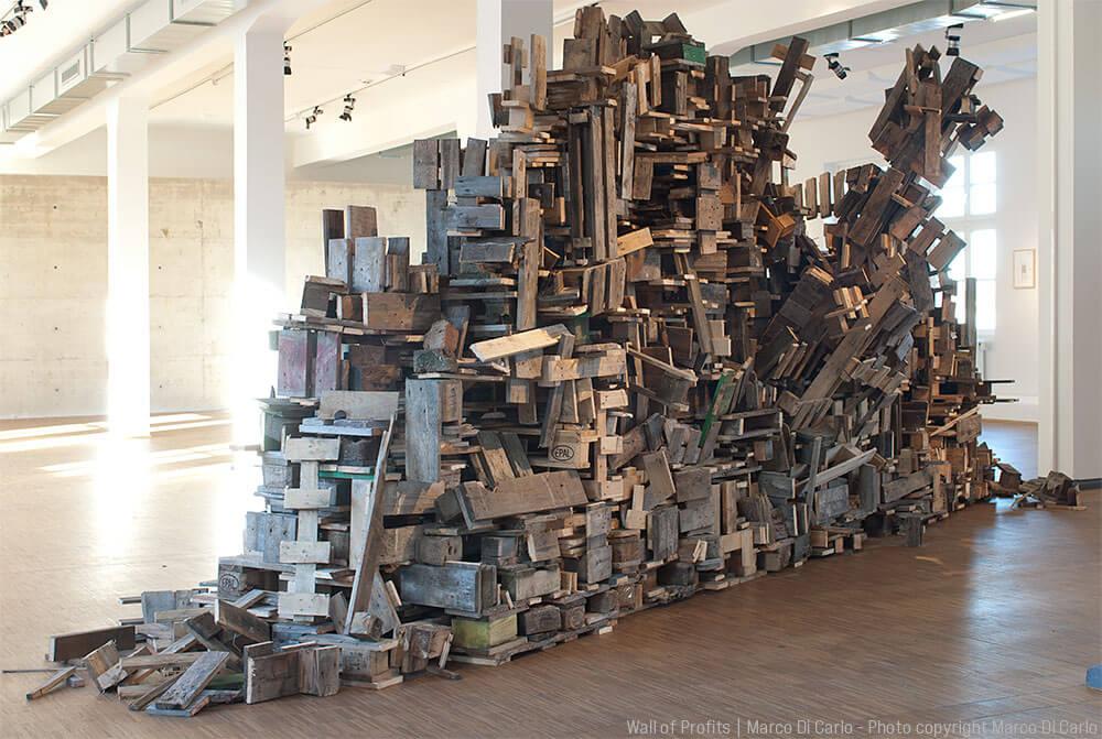 Marco Di Carlo - Sculpture - Wall of Profits - Photo copyright Marco Di Carlo